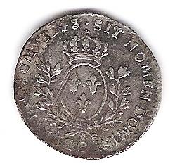 1/20 ème d' Ecu au Bandeau, Louis XV 1743 O Photo211