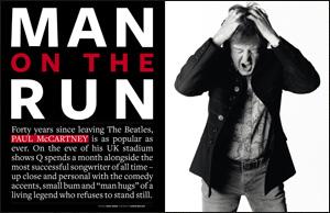 Paul McCartney en couverture du nouveau Q Magazine Q287pa10
