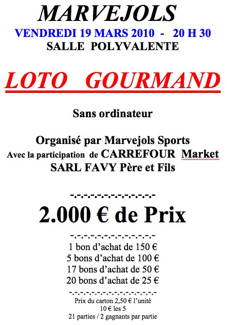 Loto gourmand du 19 mars 2010 Gourma10