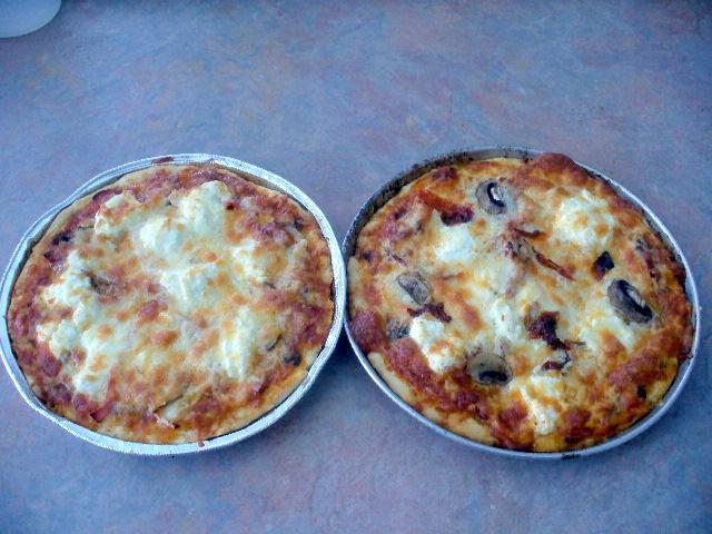 Pizza croute mince au levain kayser P1110522