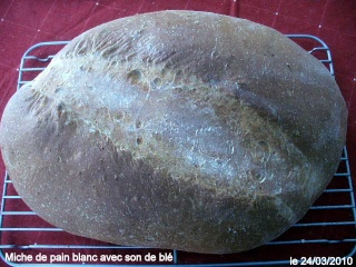 Miche de pain au son de blé  P1110718