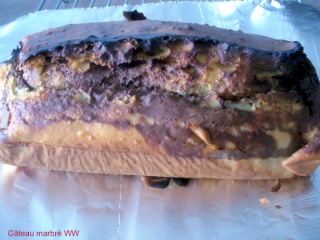 Gâteau marbré chocolat  P1110921