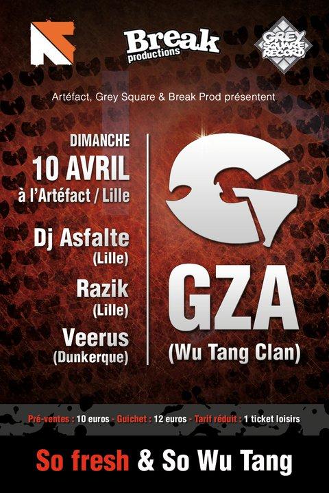 [Lille] GZA (Wu-Tang Clan) @ Artéfact Café (10/04/11) 20731510
