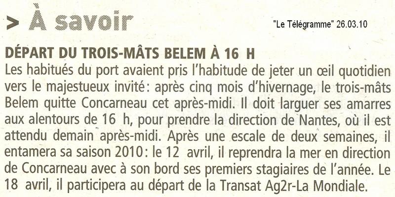 LE BELEM EN HIVERNAGE à CONCARNEAU - Page 3 Belem10