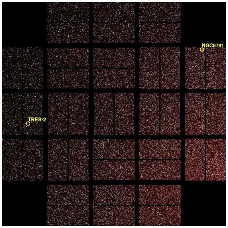 Premières images prises par le télescope spatial Kepler Ffi04110