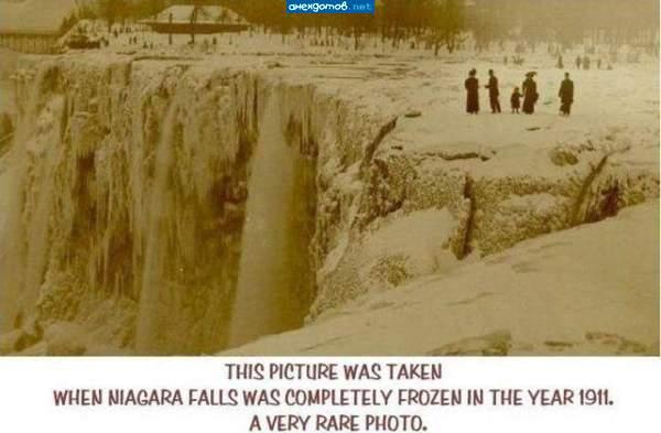 Une photo très rare des chutes du Niagara gelées (1911) Niagar10