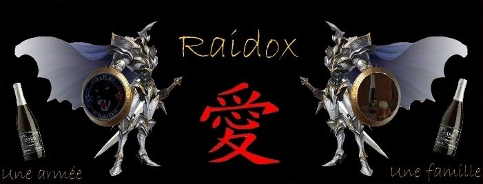 Bienvenue sur le forum Raidox