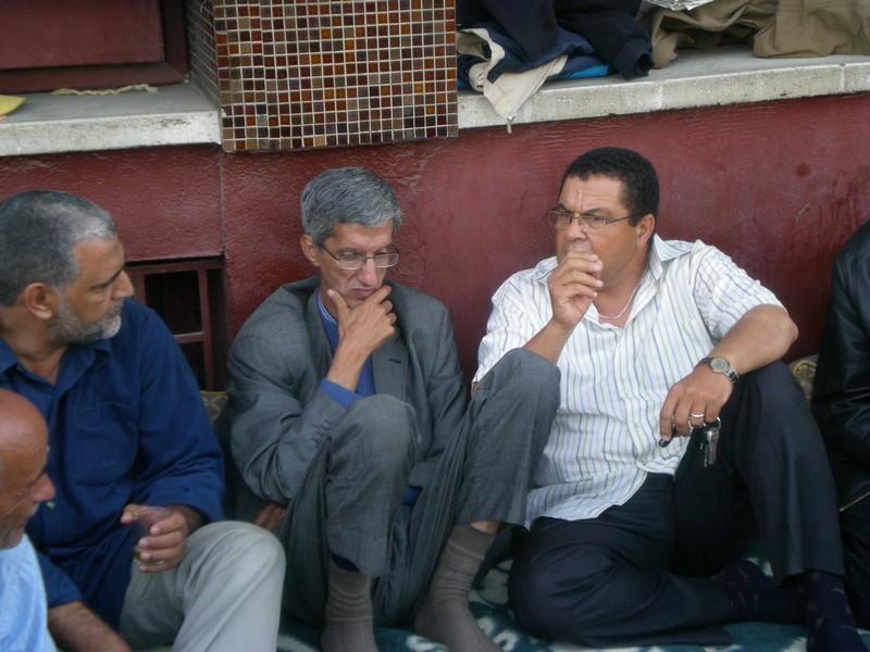 Visite de solidarité du CNRS au sit-in de l'ONEP à Rabat Dscn2414