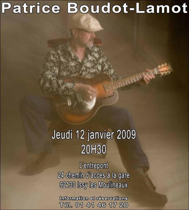 Pat Boudot Lamot à l'Entrepont (Issy) le 12/02/2009 Affich11