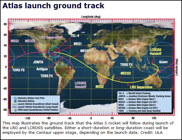 Lancement Atlas V / LRO & LCROSS (18/06/2009) - Page 2 Captur18
