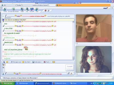 Une fille lui tend un piège sur MSN 75439210