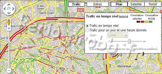 Suivre l'état routier avec Google Maps Google16