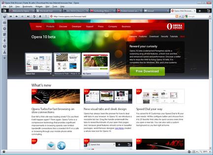 Nouvelle version : Opera 10.00 bêta Opera_10