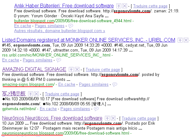 Spam / Arnaque : ergonoviomte.com murdoveliote.com Spamli10