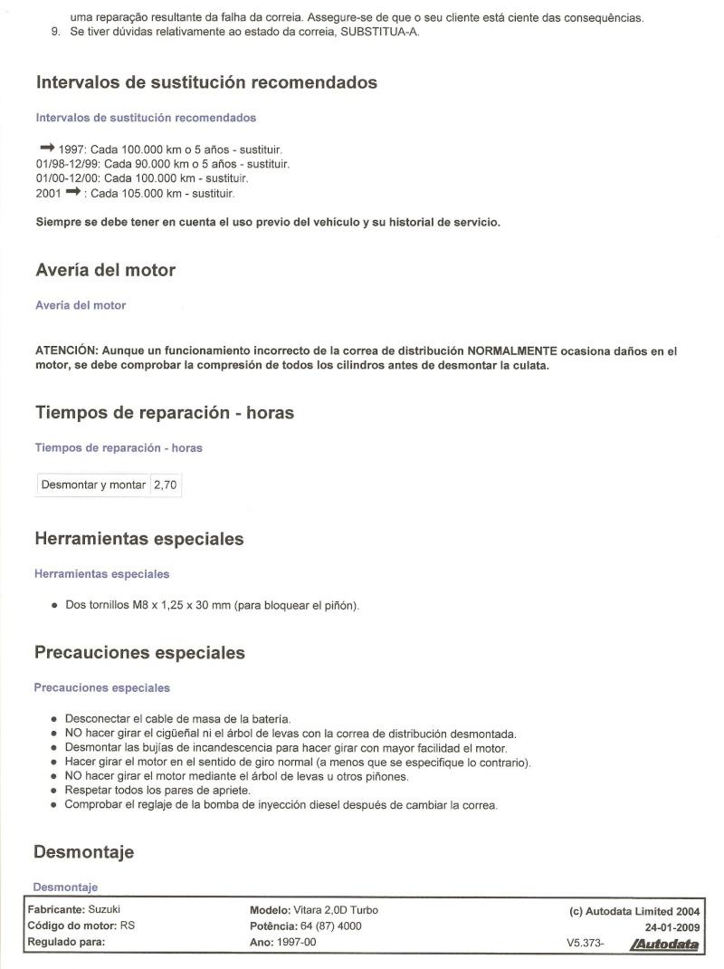 Subst. de distribuição e bomba vácuo Vitara 1.9 TD c/fotos Cd210