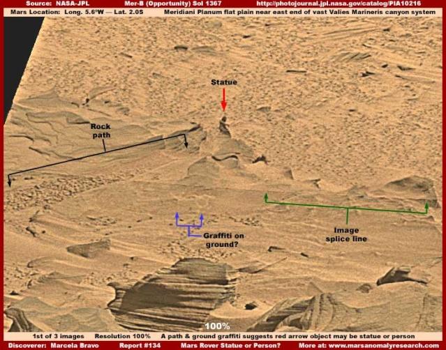 Une maman sur Mars et les autres découvertes sur Mars Statue10
