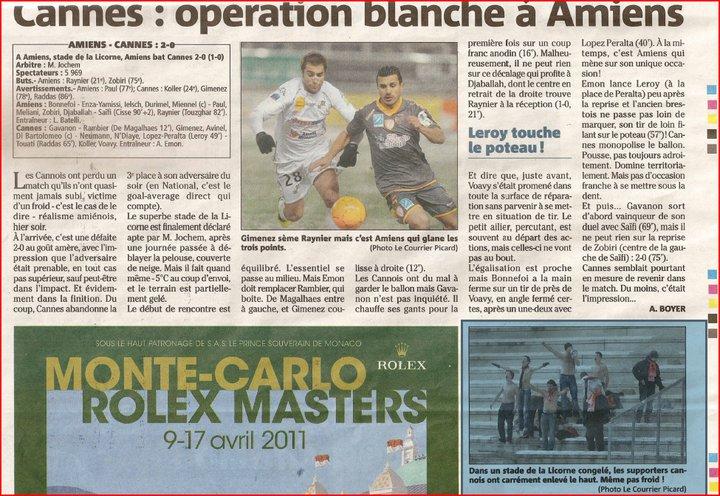 Amiens - Cannes (19ème journée : 2-0) Amiens10