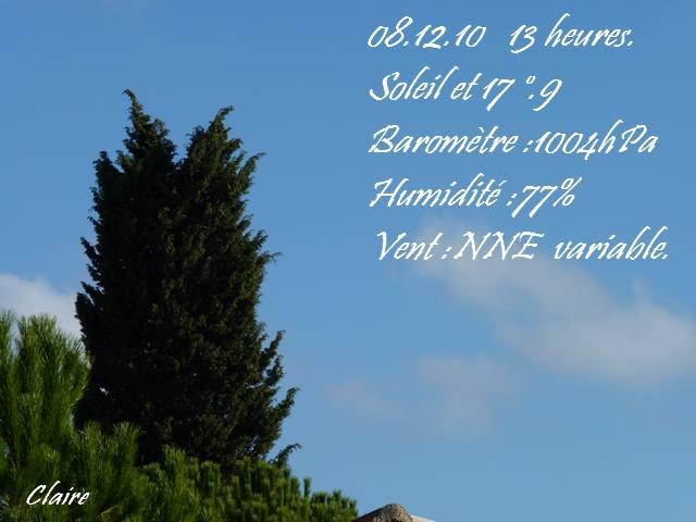 Les observations du mercredi 8 Décembre 2010 Mercre10