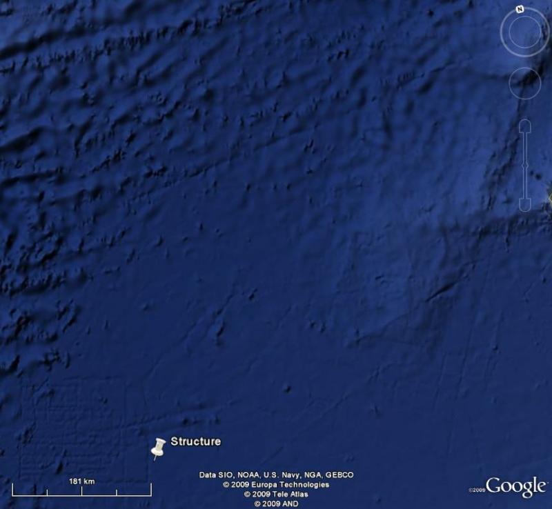 Curieuse formation, naturelle ? , océan atlantique, A_atla11