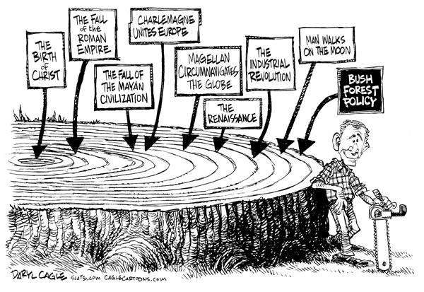 Daryl Cagles, caricaturiste américain, retro années bush A_cari10