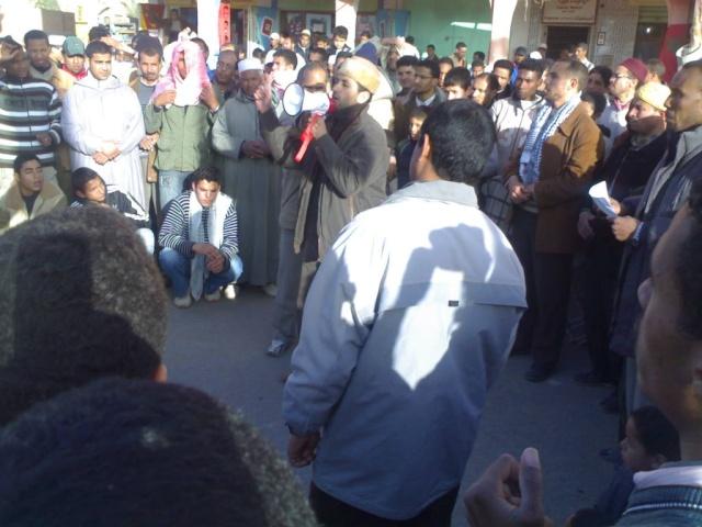 صور و فيديو للمسيرة التي نظمتها ساكنة مدينة الريصاني تضامنا مع أهل غزة 29122015