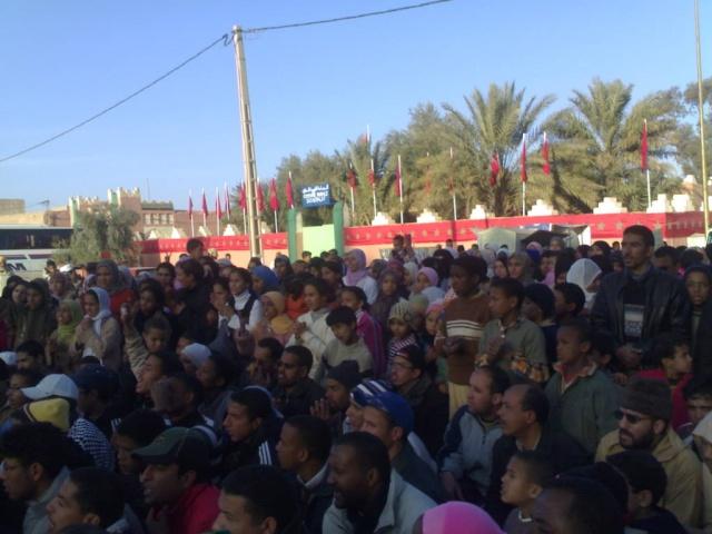 صور و فيديو للمسيرة التي نظمتها ساكنة مدينة الريصاني تضامنا مع أهل غزة 29122019