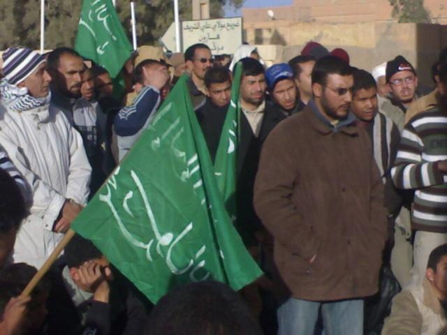 صور و فيديو للمسيرة التي نظمتها ساكنة مدينة الريصاني تضامنا مع أهل غزة 29122021