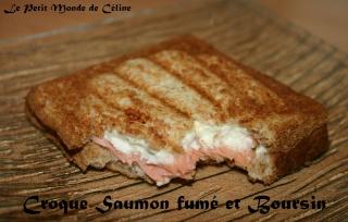 Croque-Monsieur au Saumon fumé et Boursin Croque11