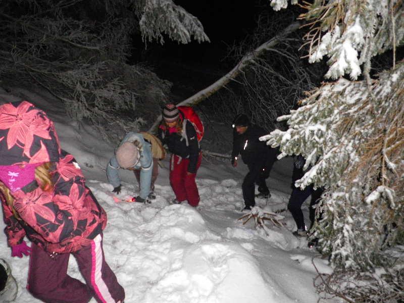 """Sortie nocturne """"neige et papillotes"""" édition 2010 0111"""