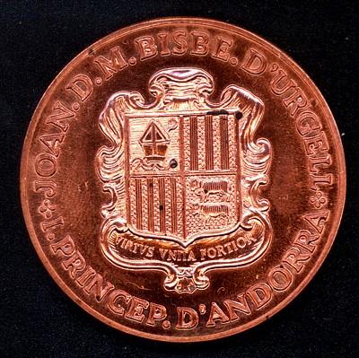 Principado de Andorra, 5 diners, 1986. Andorr10