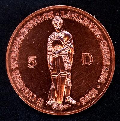 Principado de Andorra, 5 diners, 1986. Andorr11