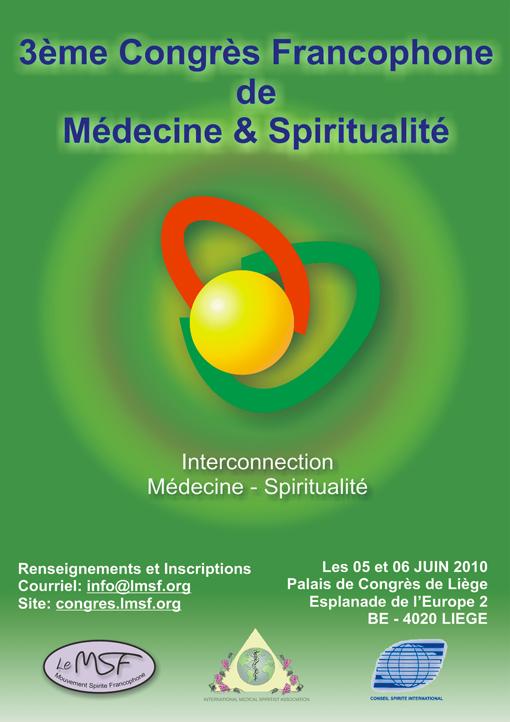 3eme Congrès Francophone de Médecine & Spiritualité Affich10