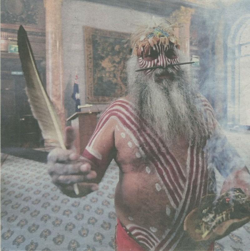 Major Sumner, Chef aborigène de la tribu des Ngarrundjeri Ngarru10