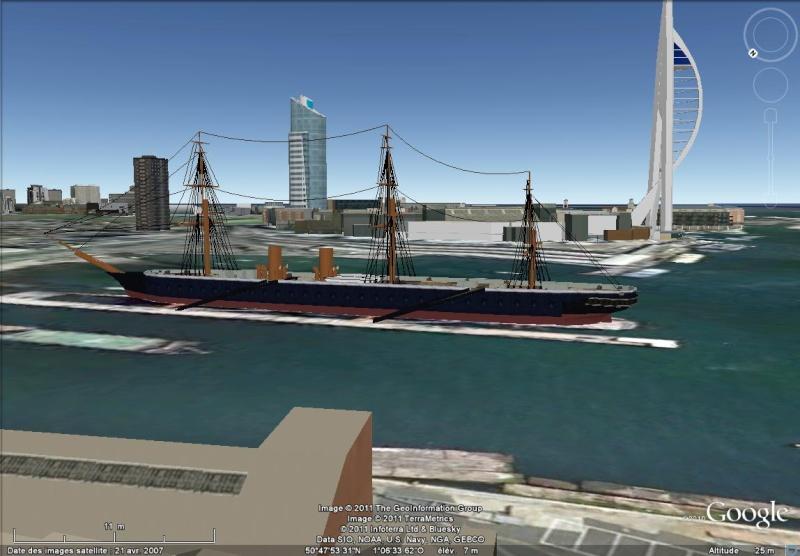 Navires, voiliers et autres bâtiments marins en 3D dans Google Earth [Sketchup] Portsm10
