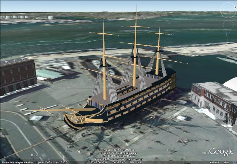 Navires, voiliers et autres bâtiments marins en 3D dans Google Earth [Sketchup] Portsm11