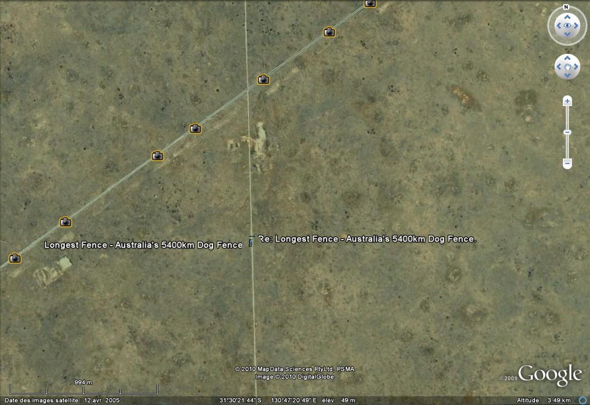 Cloture anti dingo / dingo fence Australie Sans_351