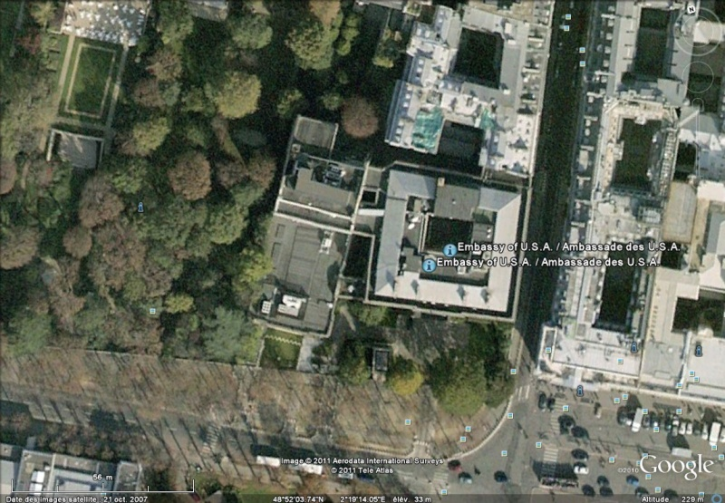 Les ambassades étrangères en France vues depuis Google Earth Sans_622