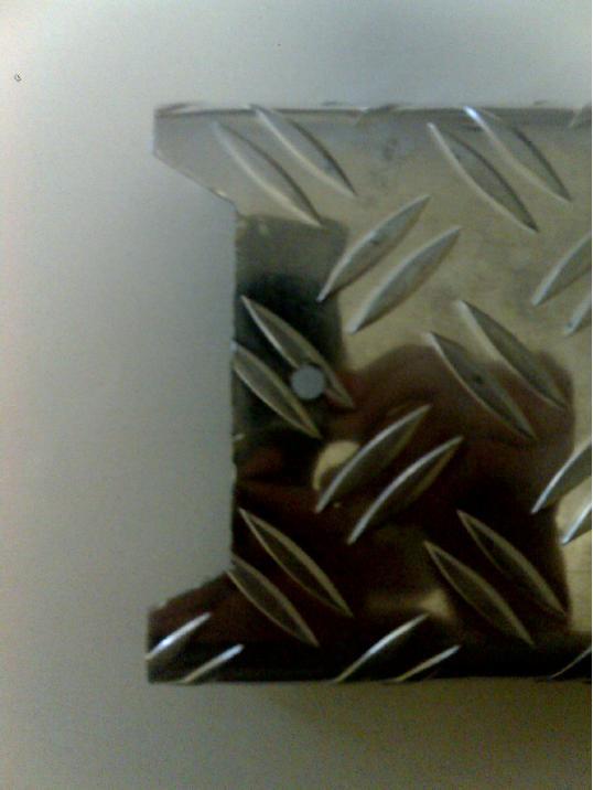 fabrication d'un marche-pieds en ALU Tp510