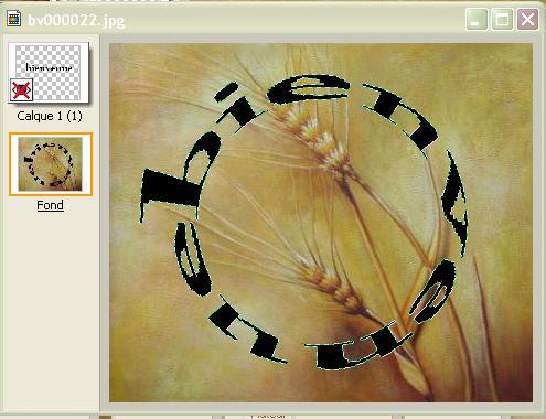 Texte en cercle Screen66