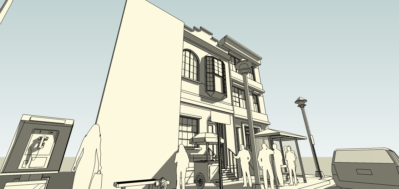 SketchUp'eur architecte -AnthO'- - Page 2 Facade13