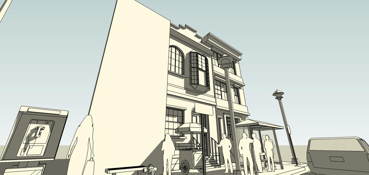 SketchUp'eur architecte -AnthO'- - Page 3 Facade13