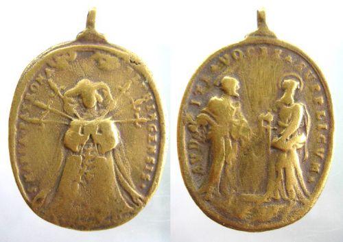 Médaille allemande du XVIIe siècle - Vierge d'Elchingen Madail12
