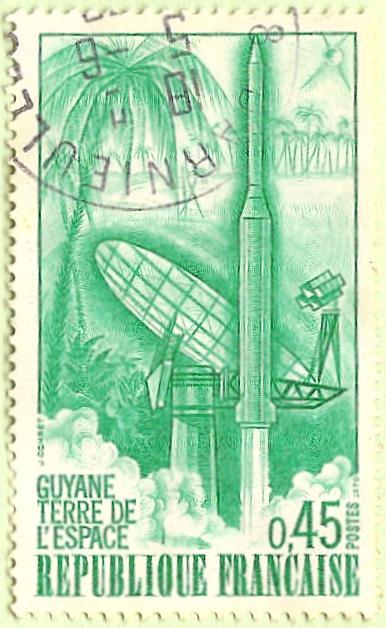 La France par ses timbres sous Google Earth - Page 16 Kourou10