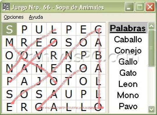 Pasatiempo.- SOPA DE LETRAS 15728110