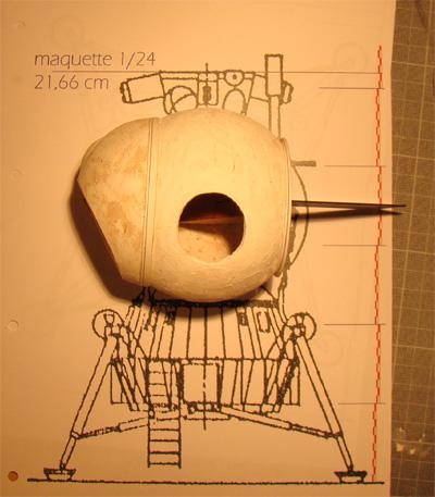 Module lunaire soviétique LK – Maquette 1/24ème Lk110