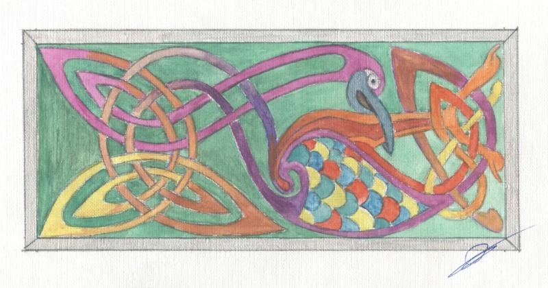J'aime les entrelacs et autres dessins celtiques - Page 8 Oiseau10