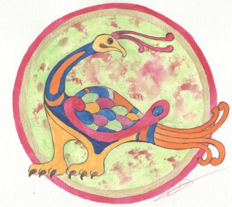 J'aime les entrelacs et autres dessins celtiques - Page 8 Oiseau11