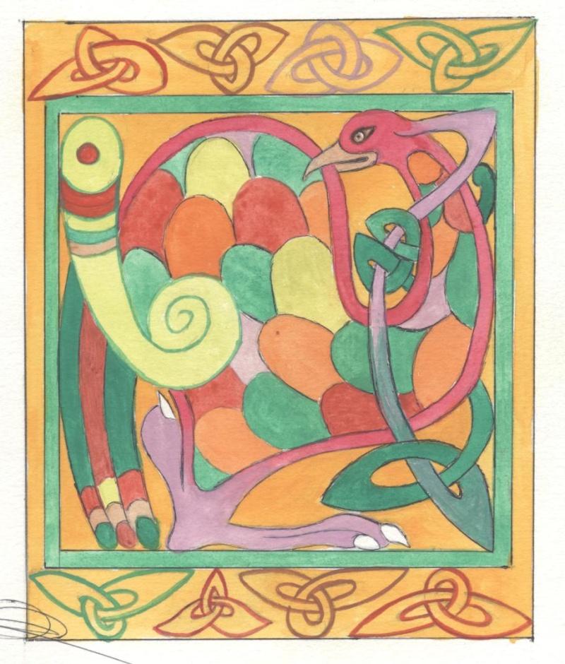 J'aime les entrelacs et autres dessins celtiques - Page 14 Oiseau12
