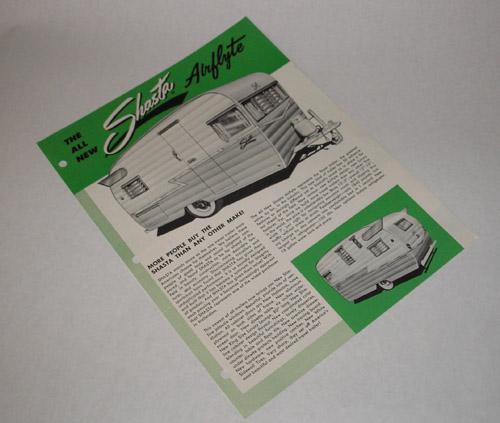 Shasta Airflyte Trailer 1950' 1178110