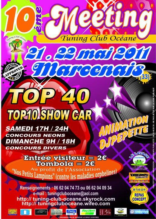 (21 & 22 Mai 2011) 10ème  Tuning Club Océane à MARCENAIS (33) Flyer10